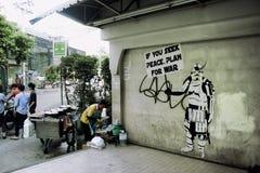 曼谷街道场面 库存图片