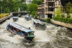 曼谷运河船 免版税库存图片