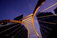 曼谷都市风景泰国微明 免版税库存图片