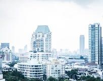 曼谷都市风景视图,企业大厦视图 免版税库存图片