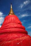 曼谷金黄挂接寺庙泰国 免版税库存照片
