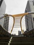 曼谷颜色阴部的乌贼属skywalk 库存图片