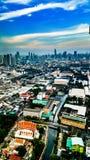 曼谷风景运河寺庙 库存图片