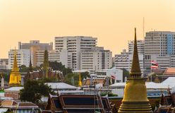 曼谷风景顶视图。 免版税库存照片