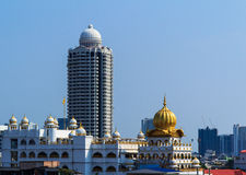 曼谷风景顶视图。 免版税图库摄影