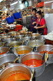 曼谷食物kor市场停转泰国突岩 库存图片