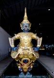 曼谷驳船皇帝船首s泰国 库存图片