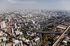 曼谷高速公路运输路线多个 库存照片