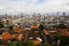 曼谷鸟瞰图从Wat Saket的 免版税库存图片