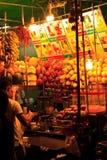 曼谷,圆滑的人制造商Streetfood 免版税图库摄影