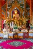 曼谷,泰国, 2018年3月06日:Wat Pho室内看法,是在第一位国王期间被兴建的皇家寺庙,被找出  免版税库存照片