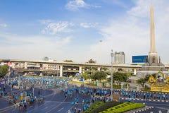 """曼谷,泰国, 8月16-2015 :Mom†历史的事件集合的""""Bike能开始做世界纪录 免版税库存图片"""
