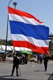 曼谷,泰国:操作关闭了曼谷抗议者 免版税图库摄影