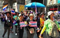 曼谷,泰国:操作关闭了曼谷抗议者 免版税库存图片