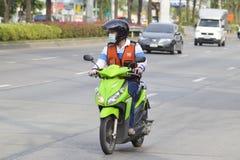 曼谷,泰国: 出租汽车摩托车驾驶员 免版税图库摄影