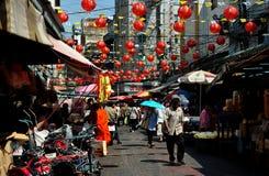 曼谷,泰国: 唐人街街道场面 免版税库存照片