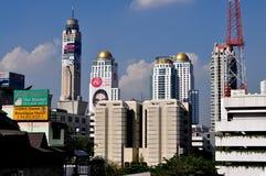 曼谷,泰国: 城市地平线视图 免版税库存图片