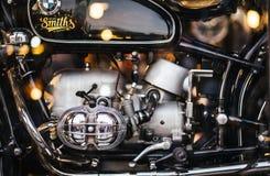 曼谷,泰国:2018年11月4日:葡萄酒BMW motorc的引擎 库存图片