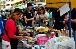 曼谷,泰国: Khao圣路食品厂家 免版税库存图片