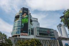 曼谷,泰国- 2017年12月25日:中央世界前面  库存照片