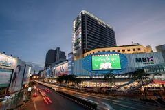 曼谷,泰国2018年1月07日:亦称群侨商业中心, 免版税库存照片