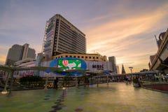 曼谷,泰国2018年1月07日:亦称群侨商业中心, 库存照片