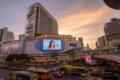 曼谷,泰国2018年1月07日:亦称群侨商业中心, 免版税库存图片
