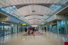 曼谷,泰国- 2018年2月01日:内部看法在廊曼国际机场的到来霍尔,终端2是 免版税库存照片