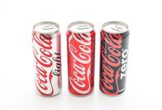曼谷,泰国- 2017年5月22日:可口可乐是碳酸化合的软性 免版税图库摄影
