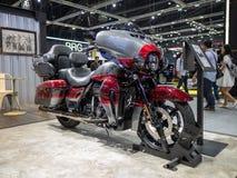 曼谷,泰国- 2018年11月30日:哈利戴维森摩托车和辅助部件在泰国国际马达商展2018马达 库存照片