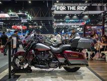曼谷,泰国- 2018年11月30日:哈利戴维森摩托车和辅助部件在泰国国际马达商展2018马达 免版税库存图片