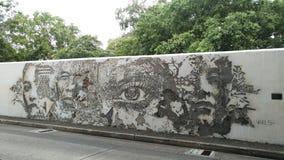 曼谷,泰国- 2018年8月04日:在前面的街道艺术 库存图片