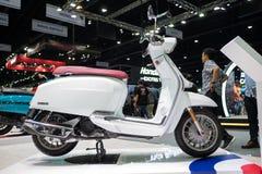 曼谷,泰国- 2018年11月30日:在泰国国际马达商展2018马达商展的Lambretta摩托车2018年11月 库存照片