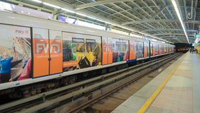 曼谷,泰国- 2018年1月22日:地铁地铁站在Silom 库存照片