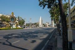 曼谷,泰国- 2017年12月21日:民主纪念碑是一座公开纪念碑在曼谷,泰国的首都的中心 库存图片