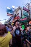 曼谷,泰国- 2018年4月13日:著名Songkran节日在 库存图片