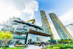 曼谷,泰国- 2018年11月12日:Iconsiam购物中心修造的外部  图库摄影