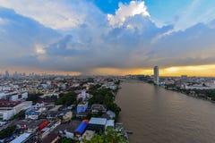曼谷,泰国 2017年10月24日 曼谷在雨天 免版税库存图片