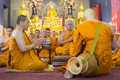 曼谷,泰国- 7月:整理cerem的曼谷修士 库存图片