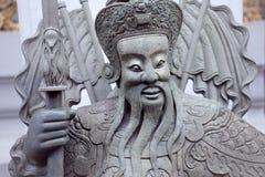 曼谷,泰国10月2013 8日,在寺庙复杂Wat Phra,曼谷泰国的雕象 图库摄影