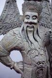曼谷,泰国10月2013 8日,在寺庙复杂Wat Phra,曼谷泰国的雕象 免版税图库摄影