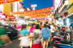 曼谷,泰国2月-2016 13日:中国镇看法在曼谷 库存照片