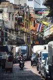 曼谷,泰国- 2015年1月01日:曼谷市街道图w 库存图片