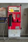 曼谷,泰国- 2017年2月2日:肮脏的公用电话  免版税库存照片