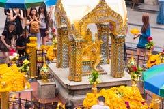 曼谷,泰国- 2016年11月28日:雕象四Brahma 库存图片