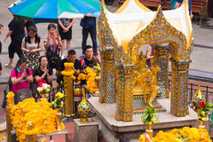 曼谷,泰国- 2016年11月28日:雕象四Brahma 库存照片