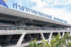 曼谷,泰国- 2016年6月10日:素万那普机场天 库存图片