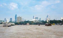 曼谷,泰国- 2016年10月14日:从的曼谷都市风景 免版税库存图片
