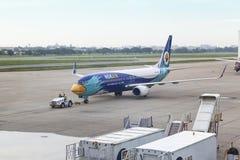 曼谷,泰国- 2015年10月07日:Nok空气航空公司飞行DD 免版税库存照片