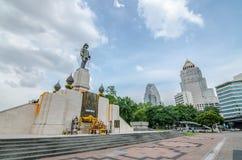 曼谷,泰国- 2016年7月18日:RAMA VI i国王的纪念碑 图库摄影